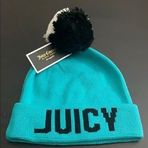 Juicy couture icon cuff hat with Pom Pom